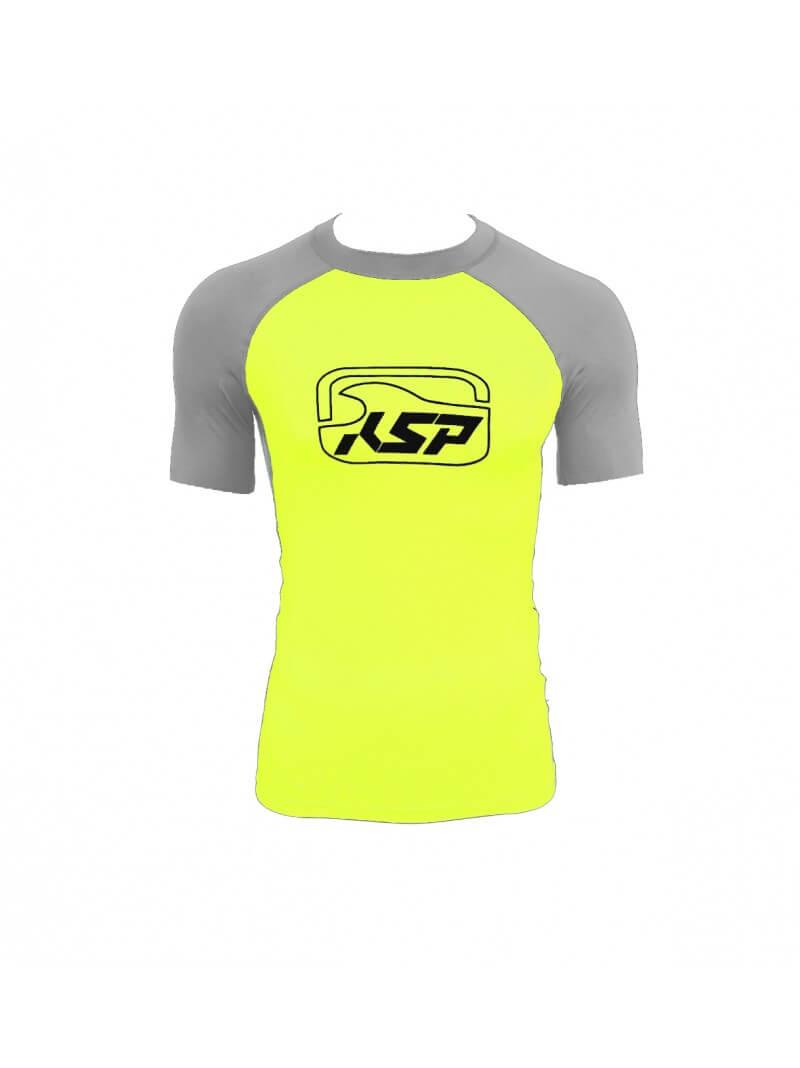 maglia lycra kitesurf gialla e grigia