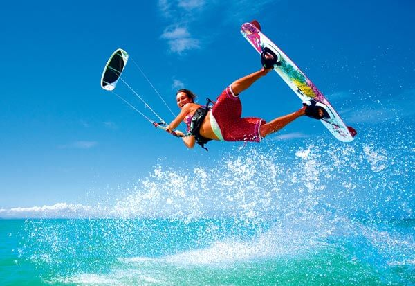 Kiteboarding girl